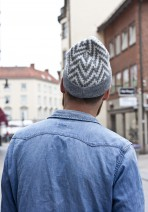 Knitted hats 'Johannelund' White/Gray